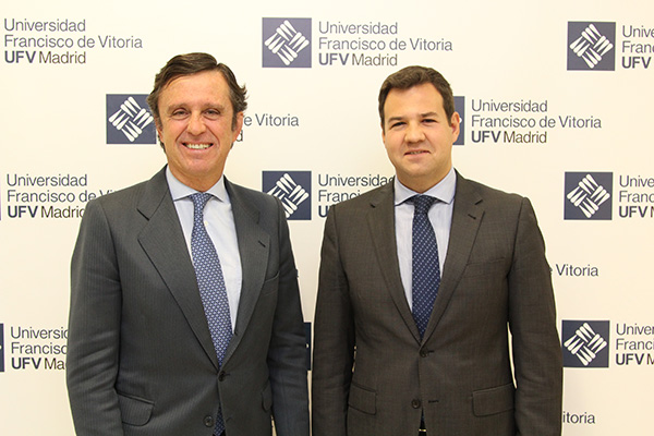IMG 5667 José de la Uz, alcalde de Las Rozas, visita la UFV Estudiar en Universidad Privada Madrid