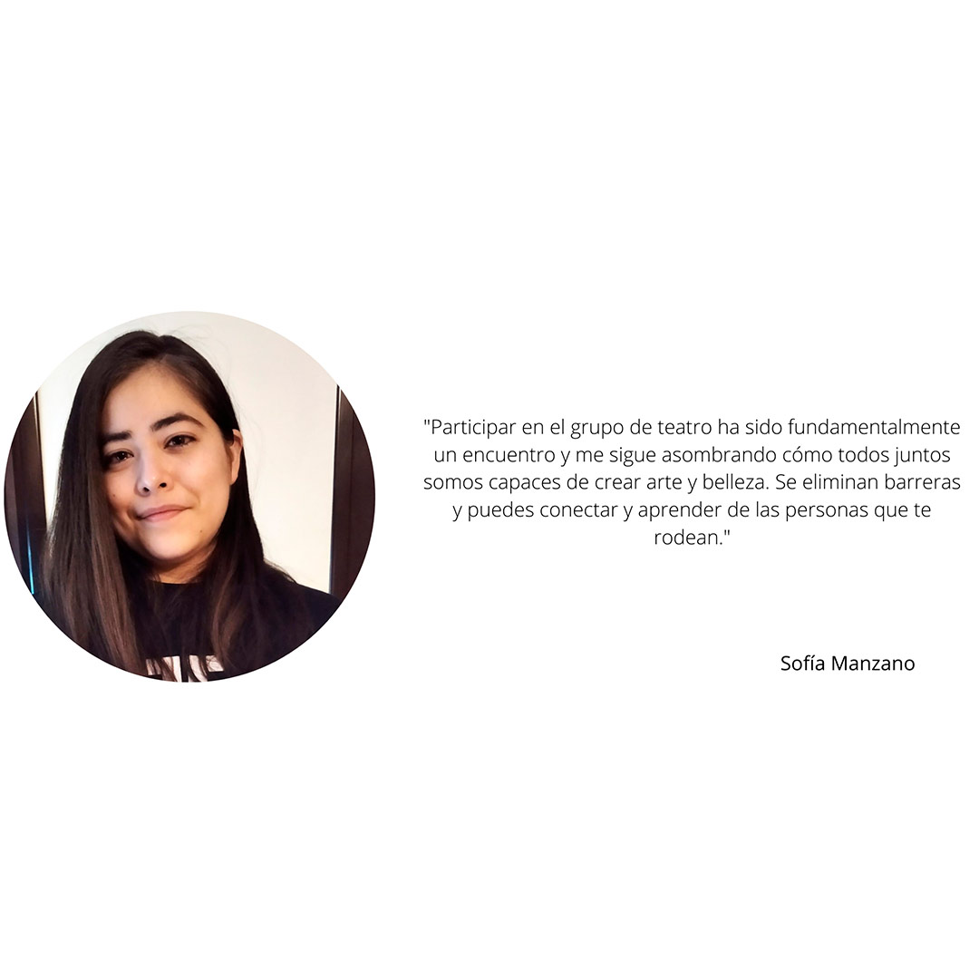 Sofia Manzano Antigua alumna Grupo de Teatro Ay de mí...¡triste! Estudiar en Universidad Privada Madrid