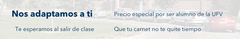 banner autoescuela Escuela de conducción UFV
