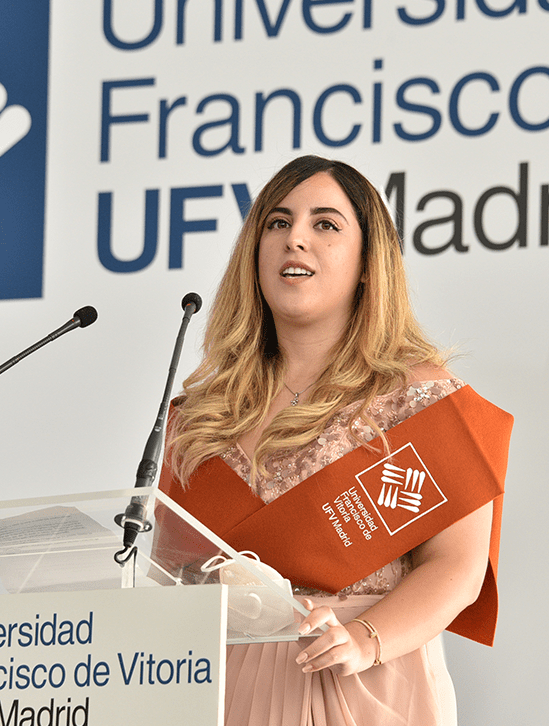 Sarah Boufanas.JPG min Actos académicos Estudiar en Universidad Privada Madrid