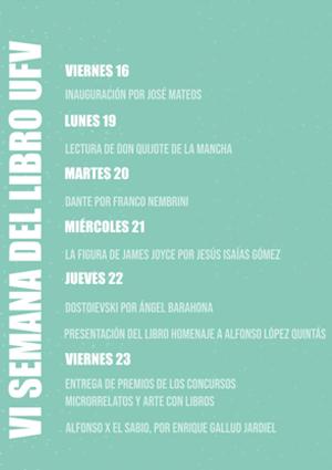 agenda semana del libro ufv 1 VI SEMANA DEL LIBRO UFV Estudiar en Universidad Privada Madrid