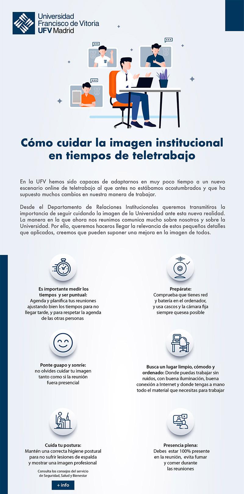 cabecera videollamada 1 Cómo cuidar la imagen institucional durante el teletrabajo Estudiar en Universidad Privada Madrid