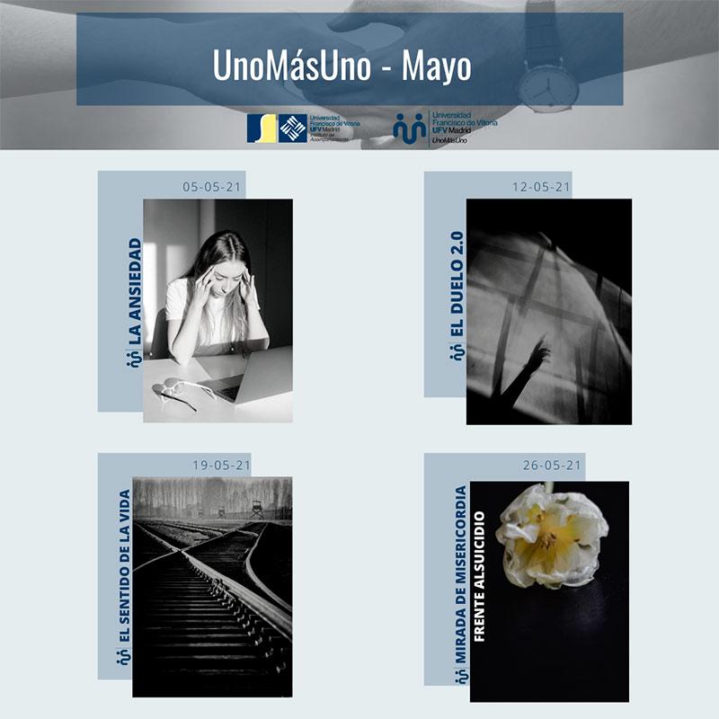 charlas formativas mayo Uno más uno Estudiar en Universidad Privada Madrid