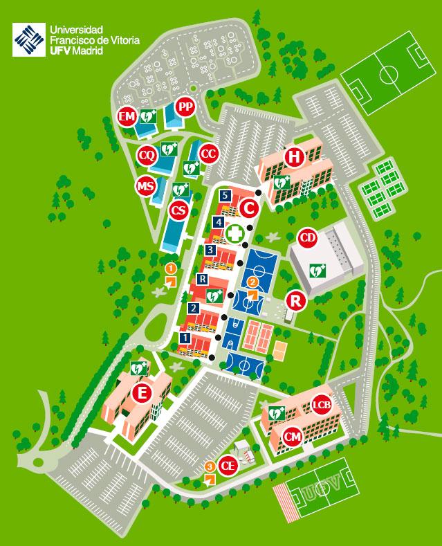 mapa campus gerencia ufv En el mantenimiento de los espacios Estudiar en Universidad Privada Madrid