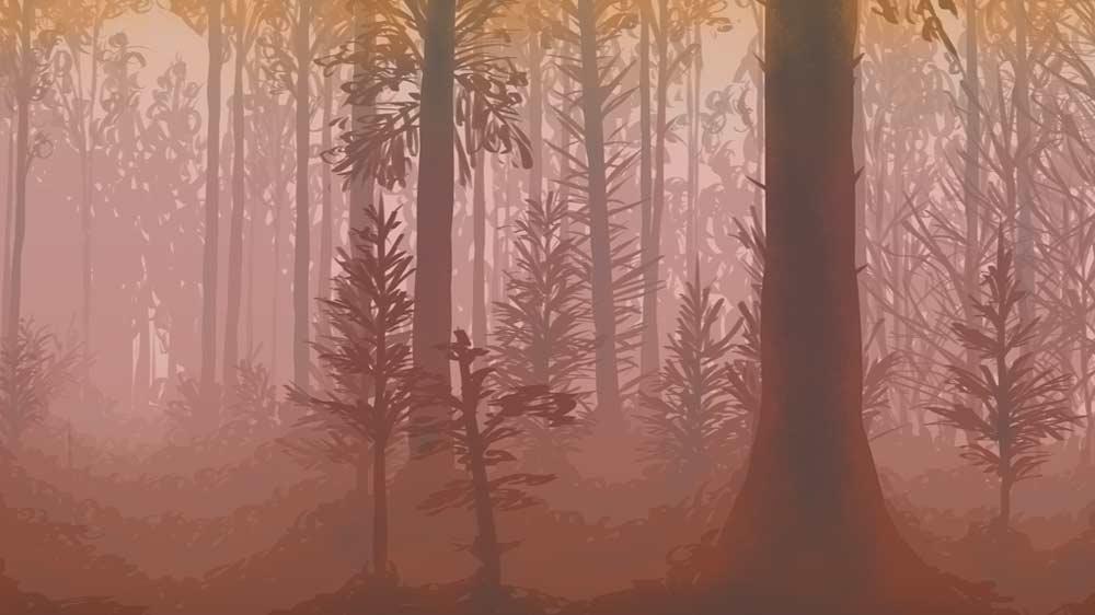 paisaje concept art portfolio videojuegos Emma Salvador Estudiar en Universidad Privada Madrid