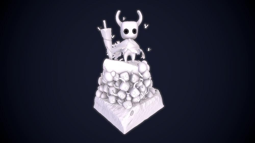 portfolio videojuegos imagenes 3D Hollow Knight Character 2 Santiago Morales Estudiar en Universidad Privada Madrid