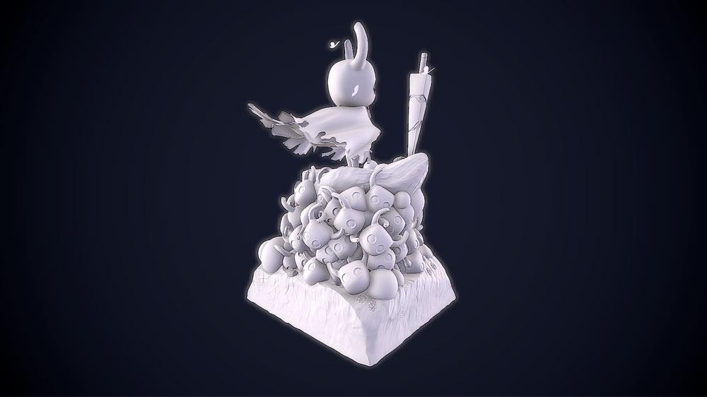 portfolio videojuegos imagenes 3D Hollow Knight Character 3 Santiago Morales Estudiar en Universidad Privada Madrid
