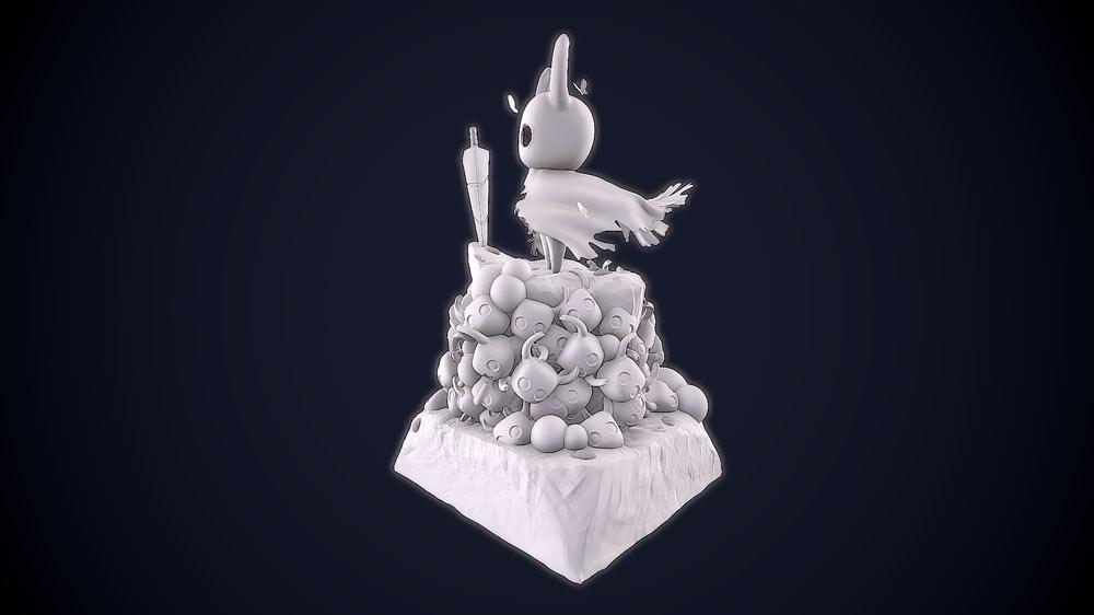 portfolio videojuegos imagenes 3D Hollow Knight Character 4 Santiago Morales Estudiar en Universidad Privada Madrid