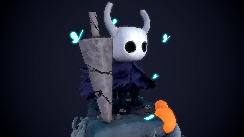 portfolio videojuegos imagenes 3D Hollow Knight Character 6 Santiago Morales Estudiar en Universidad Privada Madrid