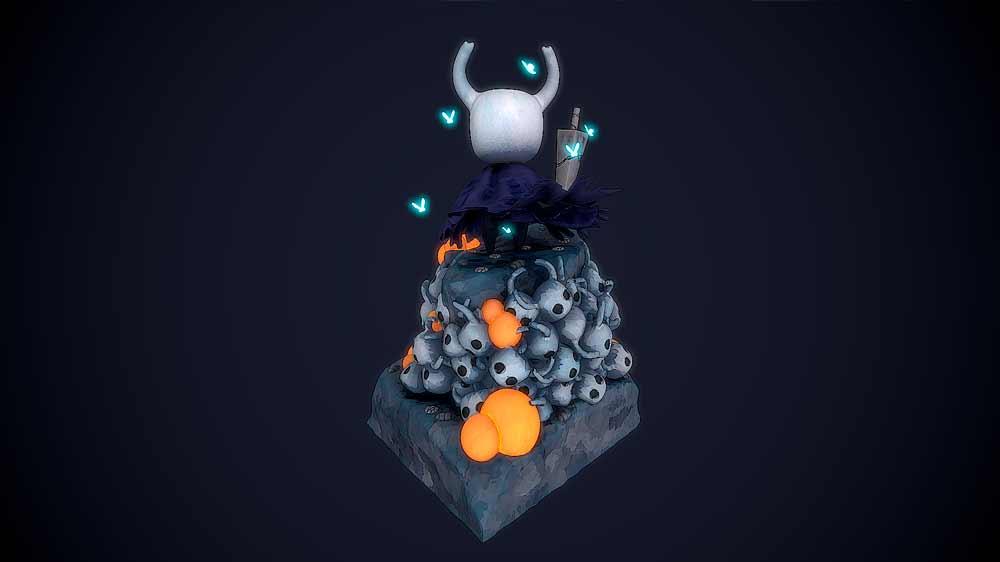 portfolio videojuegos imagenes 3D Hollow Knight Character Santiago Morales Estudiar en Universidad Privada Madrid