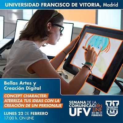 taller bbaa digital semana comunicacion 21 miniatura Bellas Artes y Creación Digital Estudiar en Universidad Privada Madrid