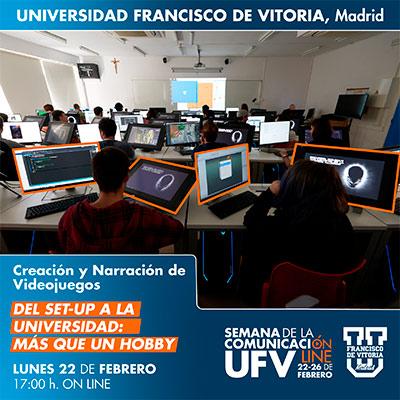taller videojuegos semana comunicacion miniatura 21 Creación y Narración de Videojuegos Estudiar en Universidad Privada Madrid