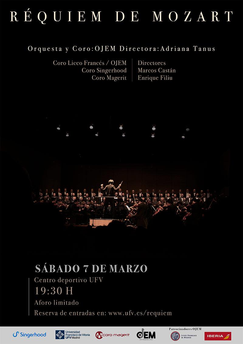 ufv cartel requiem mozart concierto orquesta coro REQUIEM DE MOZART