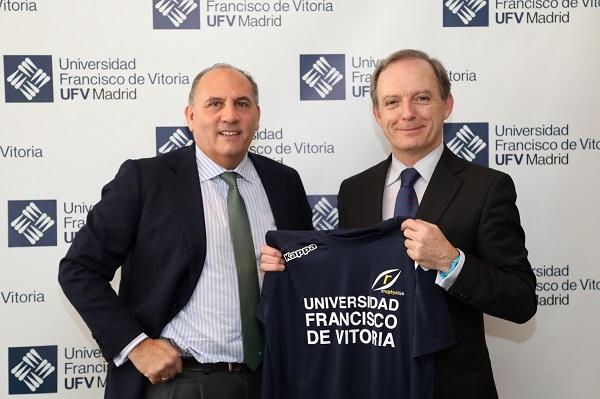 Convenio Rugby Pozuelo La Universidad Francisco de Vitoria (Madrid) refuerza su compromiso con el deporte al patrocinar al primer equipo del Club de Rugby CRC Pozuelo esta temporada