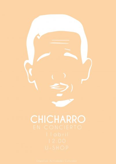CARTEL CHICHARRO ABRIL 3 001 401x567 U Shop Cultural Estudiar en Universidad Privada Madrid