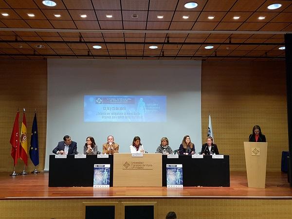 Mesa clausura TideVI El colegio Nuestra Señora del Recuerdo (Madrid) gana la VI edición del Torneo Intermunicipal de Debate Escolar celebrado en la Universidad Francisco de Vitoria