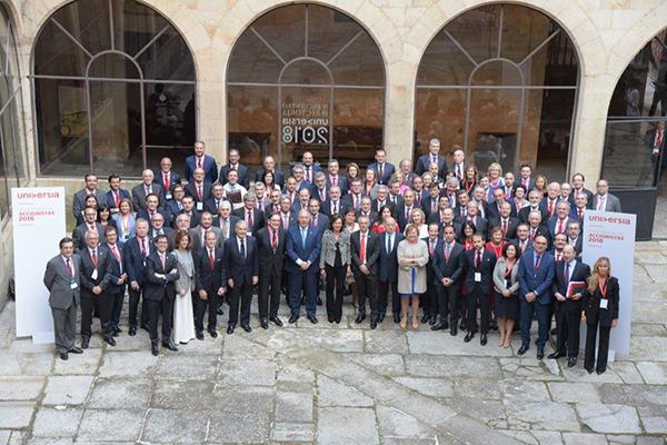 rectores salamanca 1 Felipe VI: 'Es indispensable recuperar los valores humanistas que siempre han caracterizado a la Universidad'