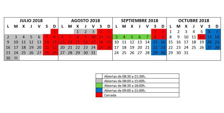 HORARIO SALA LECTURA julio2018 octubre2018 740x311 740x374 Biblioteca