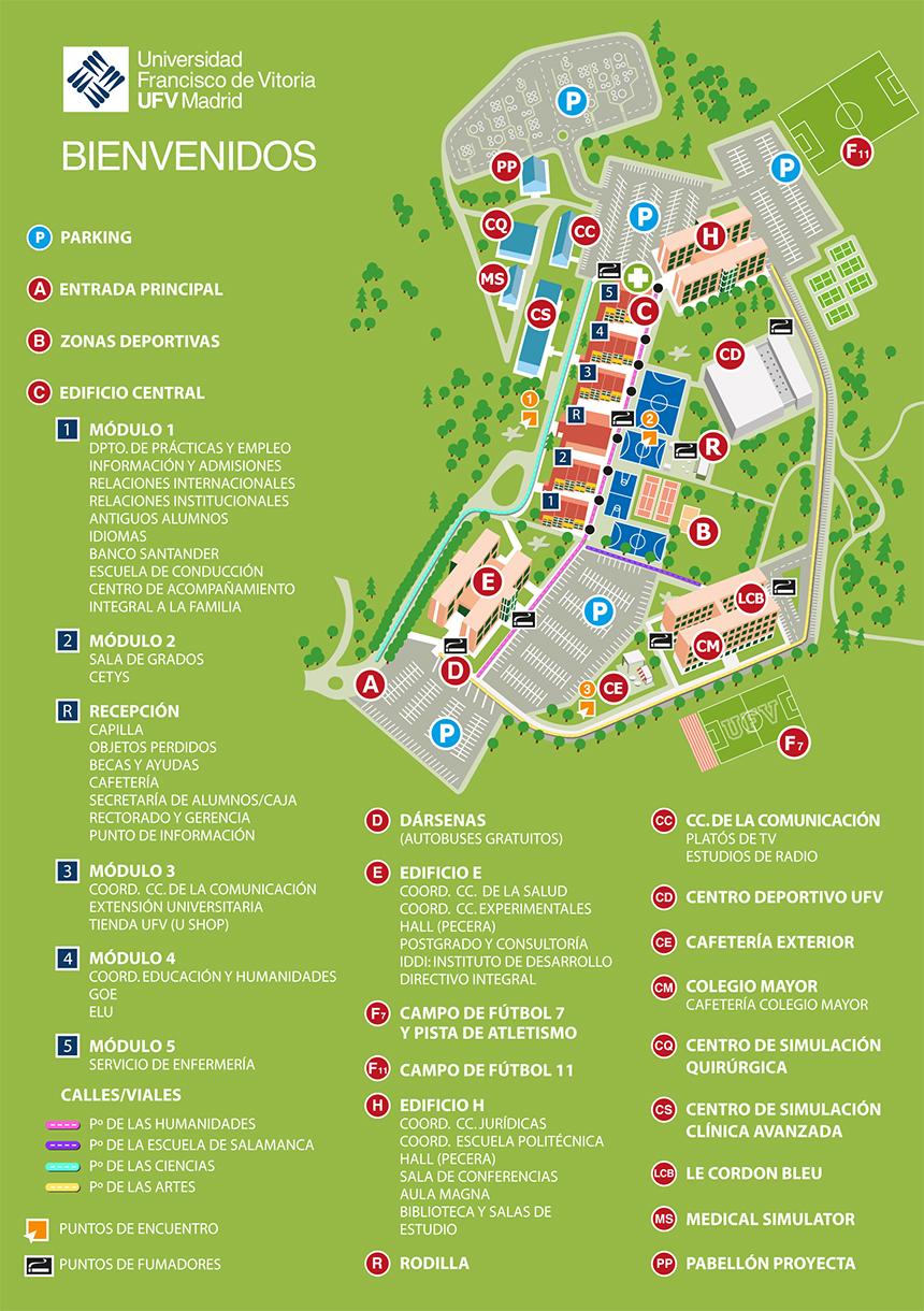 Mapa Campus UFV 2018 Mapa del Campus