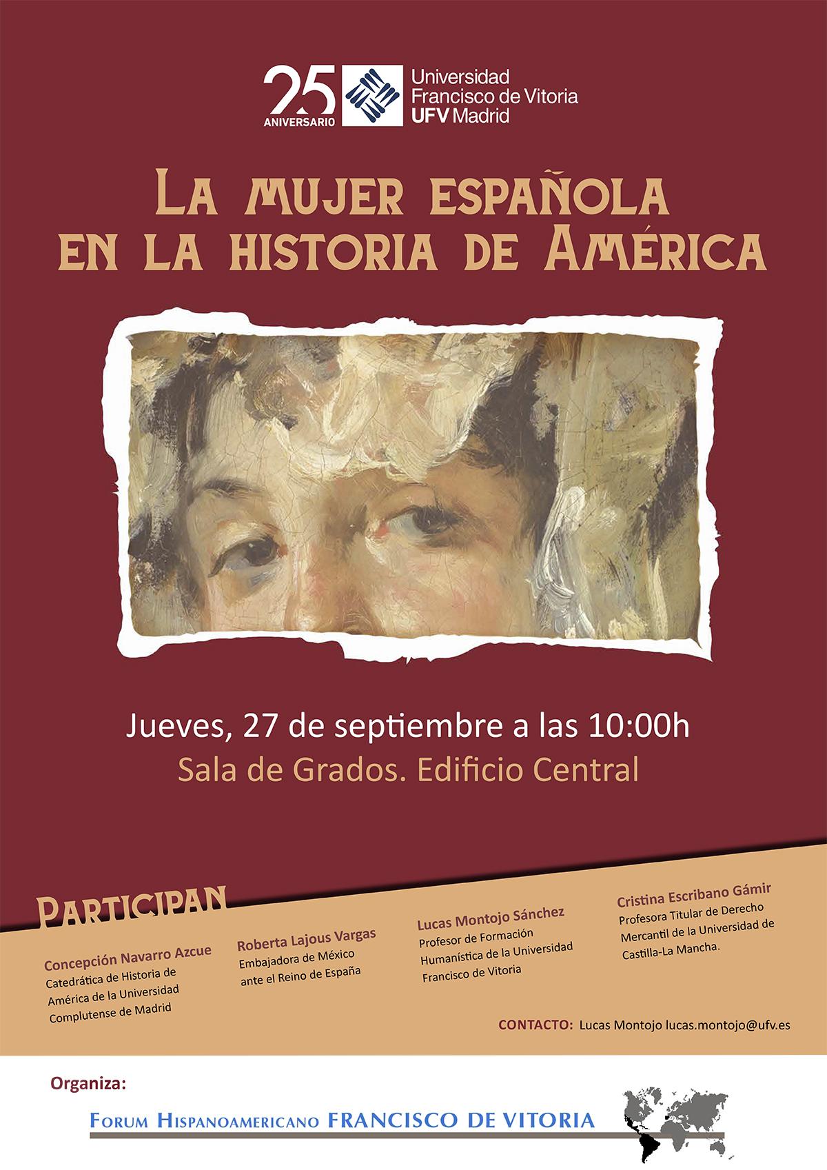 PosterMujerEspannola1 La mujer española en la historia de América Estudiar en Universidad Privada Madrid