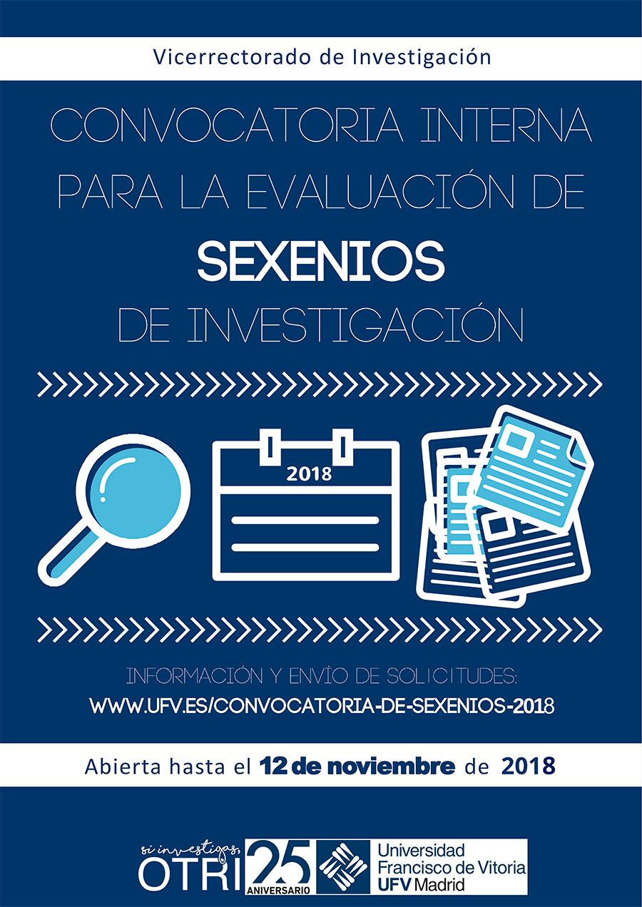 Cartel Sexenios 2018 Convocatoria de Sexenios 2018