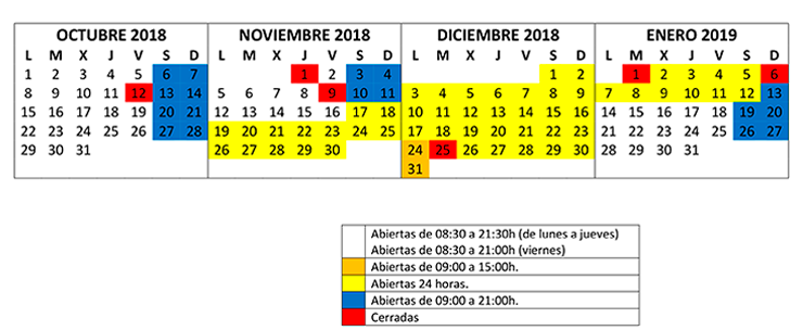 HORARIO SALA ESTUDIO octubre enero2019 740x304 Biblioteca