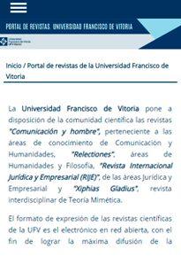 portal revistas 205x290 Investigación UFV Estudiar en Universidad Privada Madrid