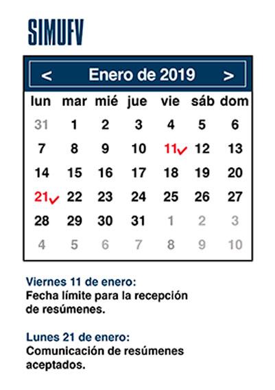 agenda enero simufv SIMUFV