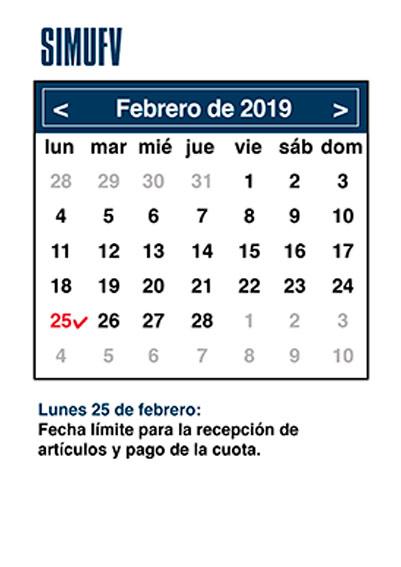agenda febrero simufv SIMUFV