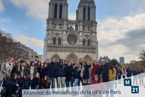 94b98679 8135 4ebf 87ee 8a609e3cff81 Los alumnos del Grado en Periodismo realizan un viaje académico a París