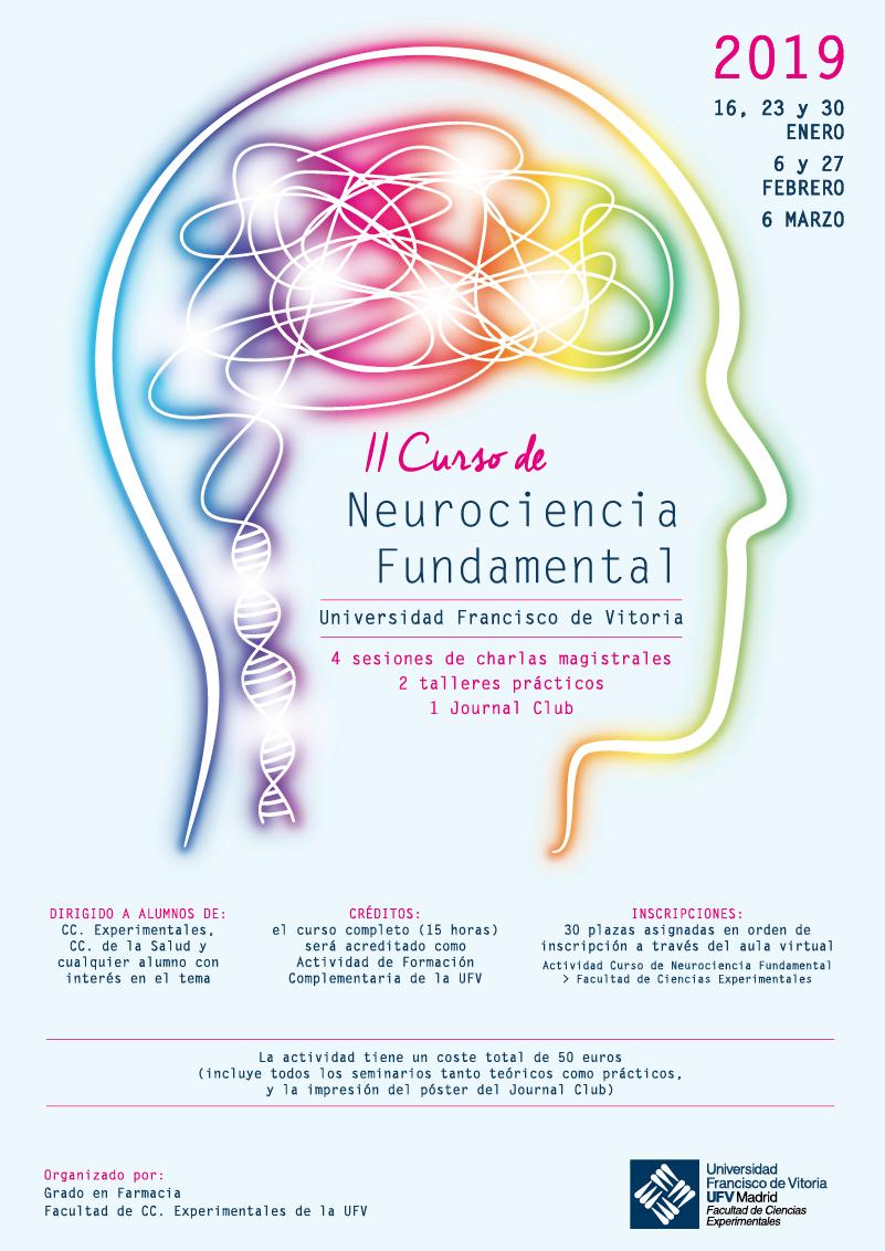 Cartel ii curso neurociencia II Curso de Neurociencia Fundamental