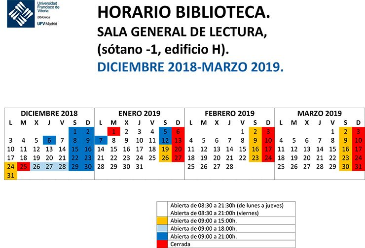 HORARIO SALA DE LECTURA dic 2018 marzo2019 740x504 Biblioteca