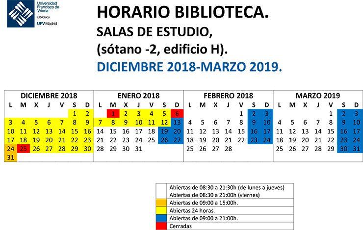 HORARIO SALAS DE ESTUDIO dic 2018 marzo 2019 740x469 Biblioteca