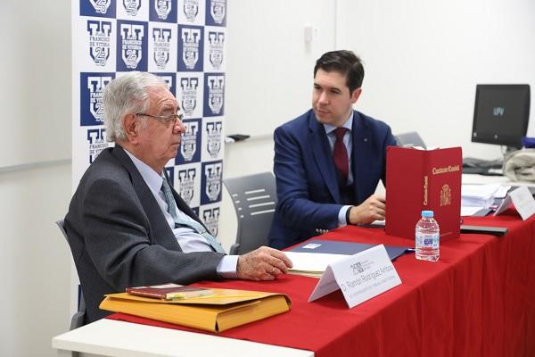 IMG 0340 Ramón Rodríguez Arribas, ex vicepresidente del Tribunal Constitucional, charló con los alumnos de Derecho de la UFV