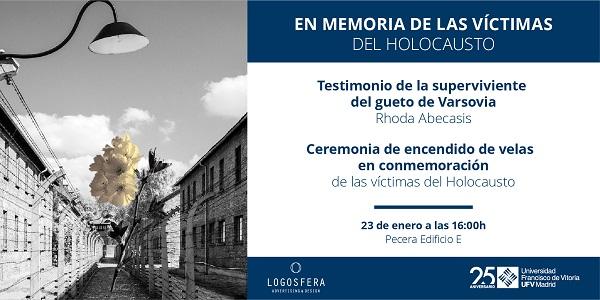 AAFF Conmemoració Holocausta Web V1 TW La UFV celebra el seminario Israel: historia y memoria dentro de las actividades que conmemoran el mes de la memoria del Holocausto con el centro Sefarad y la Comunidad Judía de Madrid