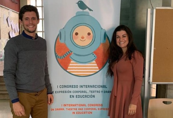 Alejandro Muñoz y Michelle Matos Alejandro Muñoz y Michelle Matos, ponentes en el I Congreso Internacional de Expresión Corporal, Teatro, Drama en Educación