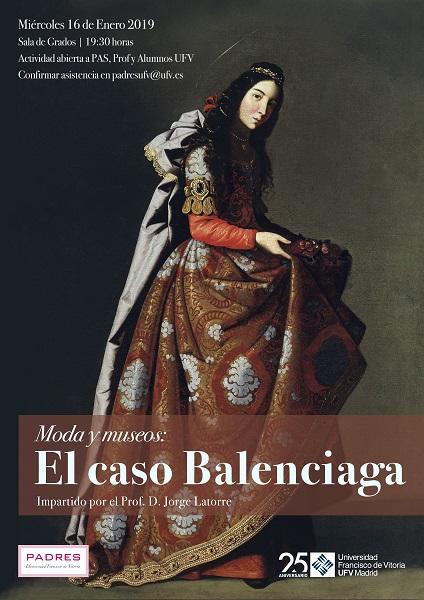 BALENCIAGA CARTEL FINAL El profesor Latorre impartirá una conferencia sobre El caso Balenciaga