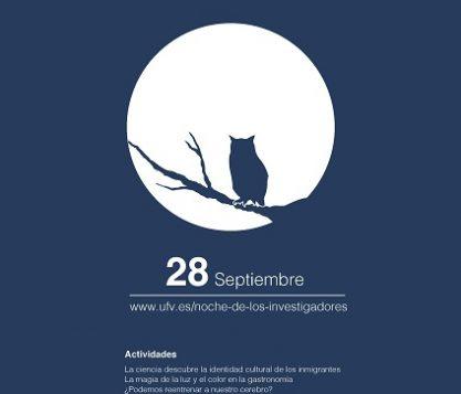 Cartel noche investigadores 417x357 actualidad UFV Estudiar en Universidad Privada Madrid