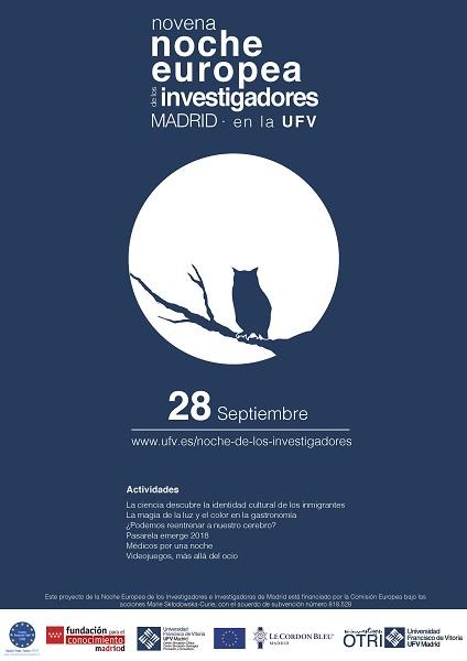 Cartel noche investigadores La UFV celebra hoy la Noche Europea de los Investigadores