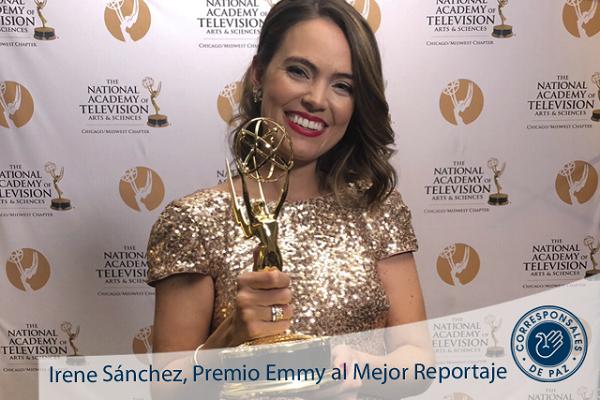 Irena Sanchez PremioEmmy Irene Sánchez, primera Alumni UFV galardonada con un Emmy