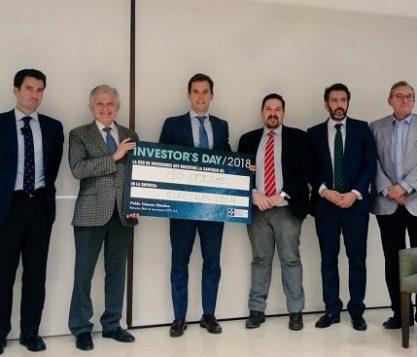 """La Red de Inversores UFV a través del Fondo de Coinversión UFV ha invertido 10.000 € «en directo» al final de las presentaciones siendo la empresa ganadora """"Electrum Tech"""" 417x357 actualidad UFV"""