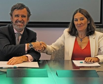 La Universidad Francisco de Vitoria y Telefónica firman un convenio de colaboración en materia de formación investigación y transferencia de conocimiento 417x341 actualidad UFV Estudiar en Universidad Privada Madrid