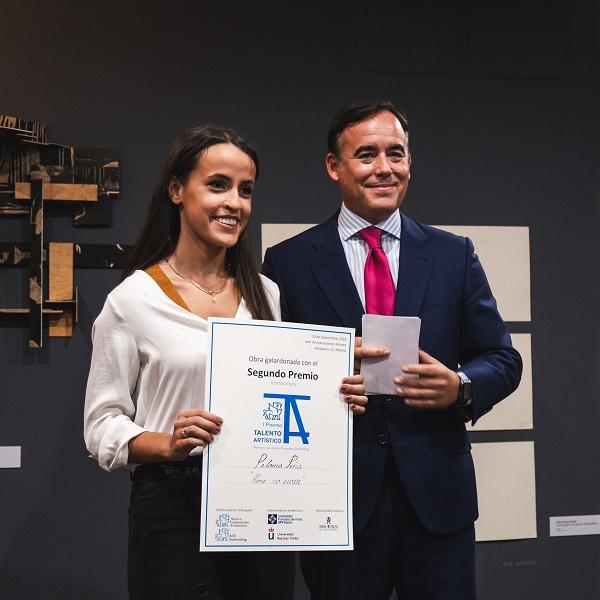 Paloma Peña áccesit La alumni UFV Paloma Peña, galardonada en el I Premio Talento Artístico de Ahorro Corporación