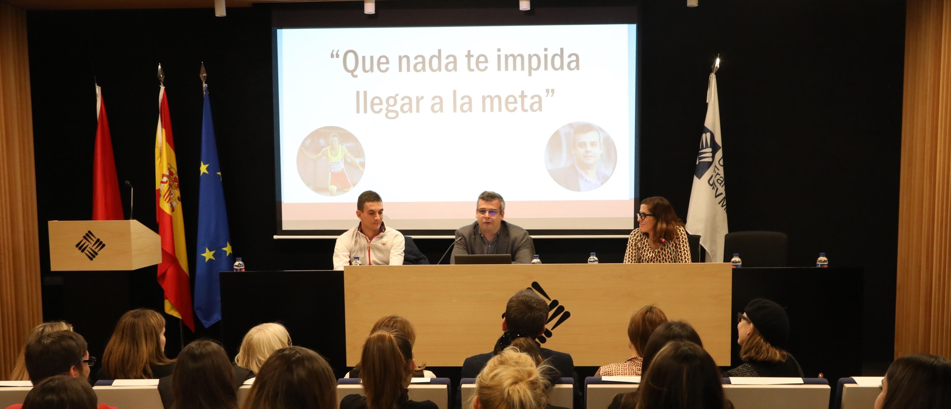 descarrega cetys El atleta invidente Gerard Descarrega visita la Universidad Francisco de Vitoria