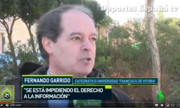 fernando garrido Fernando Garrido, profesor de Derecho, explica si es legal que LaLiga se niegue a ceder unas imágenes de un partido de fútbol