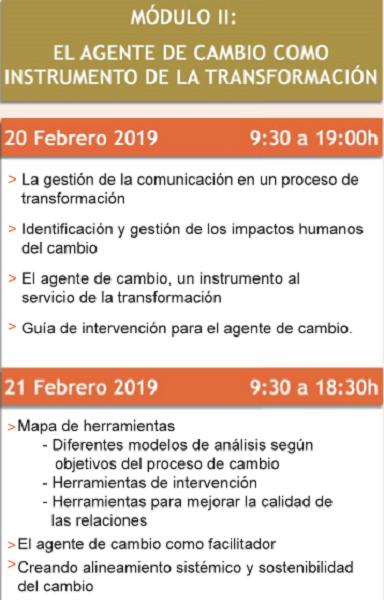 """iddi El IDDI AGILE HUMANS ORGANIZATIONS de la Universidad Francisco de Vitoria lanza el 2º módulo del programa """"Agente del Cambio"""""""