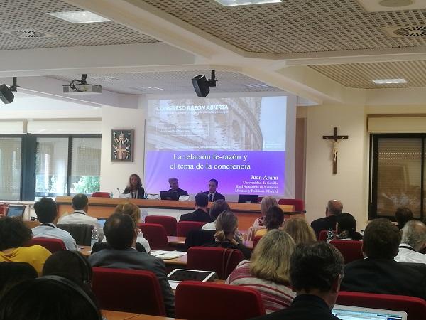 inauguracion ra 1 La Universidad Francisco de Vitoria y la Fundación Vaticana Joseph Ratzinger/Benedicto inauguran el Congreso Razón Abierta en la Universidad Europea de Roma