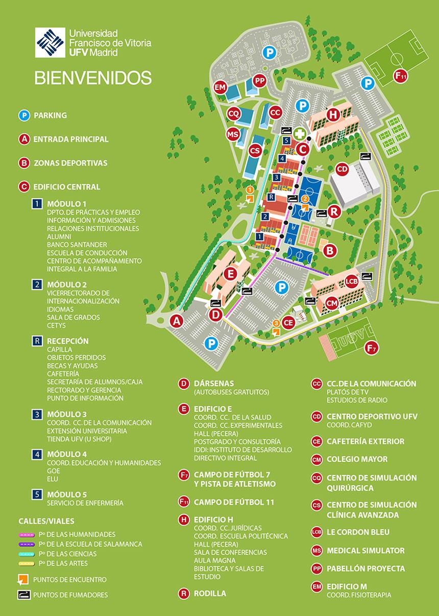 mapa campus ufv 2019 Mapa del Campus