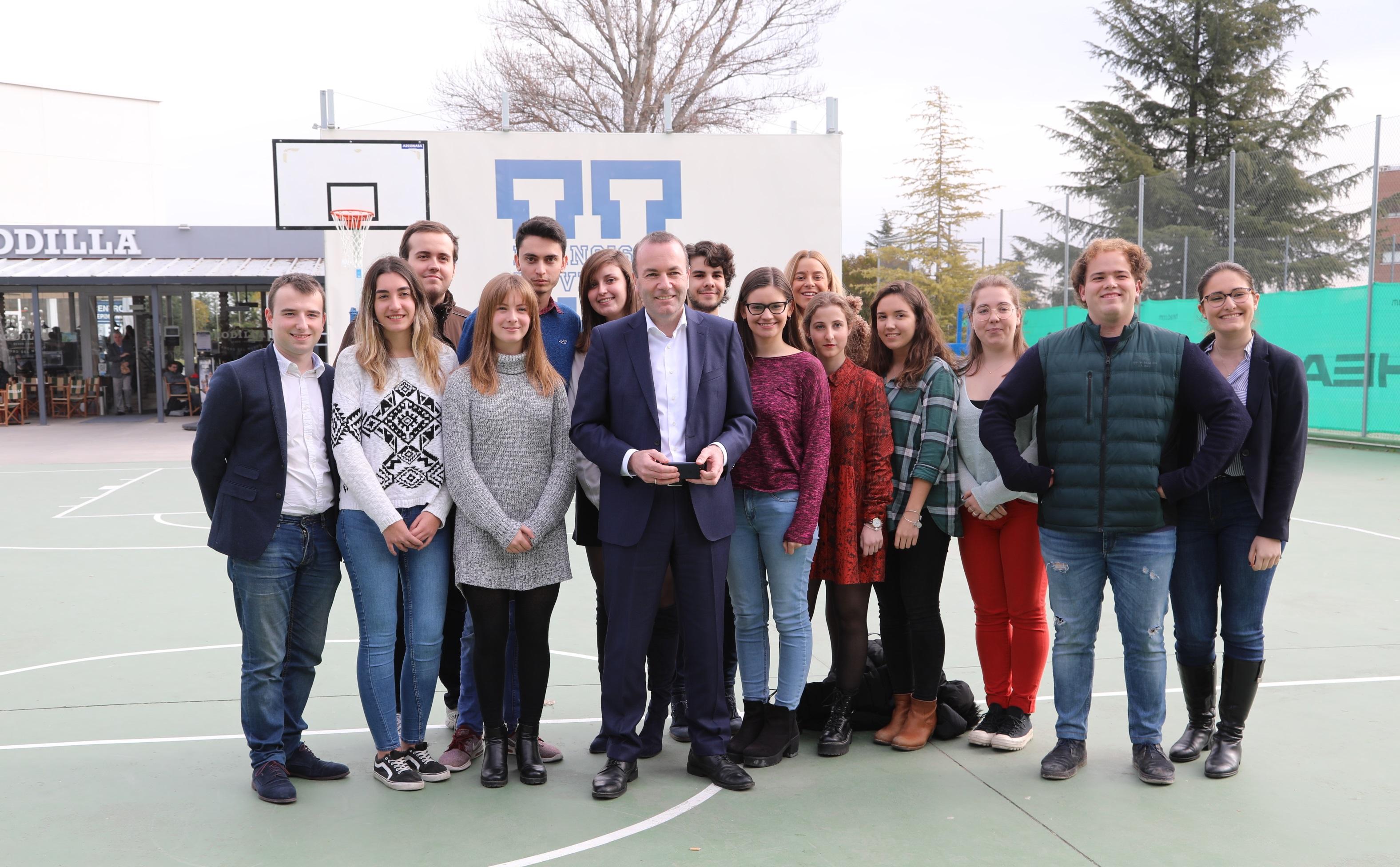 weber Manfred Weber, candidato a la Presidencia de la Comisión Europea,visita la UFV