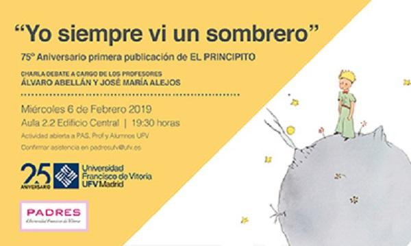 PRINCIPITO PADRES UFV Charla debate Yo siempre vi un sombrero, con los profesores Álvaro Abellán y José María Alejos